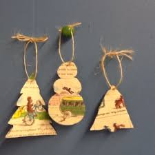 ornaments from children s books i used curious george cut