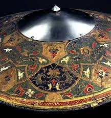 Made Ottoman by Ceremonial Shield Ottoman C 1700 The Shield Is Made Of Wicker
