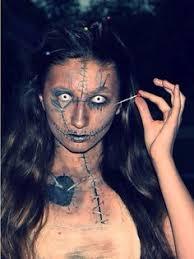 Voodoo Doll Halloween Costume Voodoo Doll Makeup Idea Halloween Doll Costumes