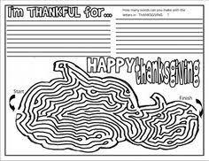 thanksgiving placemat thanksgiving activities thanksgiving