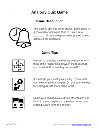 Analogy Practice Worksheets Ri 8 4 Various Meanings Analogies And Allusions Reading