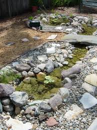 Small Garden Ponds Ideas Lawn Garden Small Creek Garden Pond Using