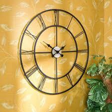 Home Decorators Art Wall Ideas Metal Wall Clocks Large Very Large Metal Wall Clocks