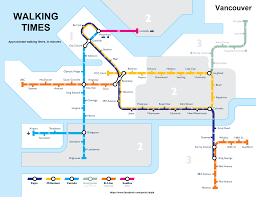 Subway Station Map by Vancouver Subway Map My Blog
