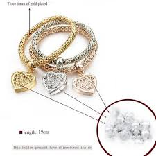 love heart charm bracelet images Heart charm bracelets with austrian crystals pandoras box inc jpg