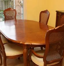 stanley furniture oak veneer dining table and chairs ebth