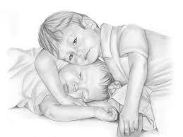 little kids pencil sketch art hd wallpapers rocks