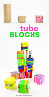 recycled craft tube blocks babble dabble do