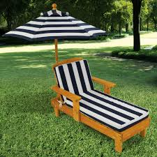 Outdoor Chaise Lounges Kidkraft Outdoor Chaise With Umbrella And Navy Stripe Fabric 105