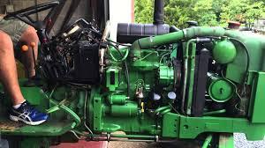 john deere 2150 startup and leak check after transmission oil pump