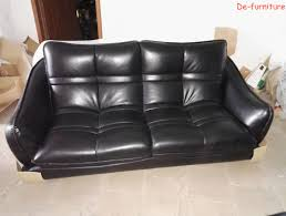 black genuine leather sofa in office and living room furniture