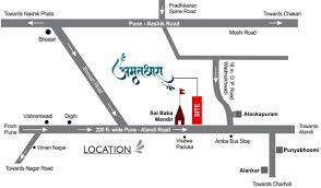 Pune India Map by Lunkad Amrutdhara By Lunkad Builders Llp In Alandi Pune Price