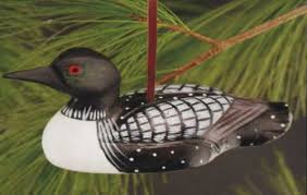 carved wooden wood duck ornament american expedition