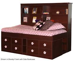 Overstock White Bookcase by Bed U0026 Bedding White Wooden Twin Captains Bed With Drawers And