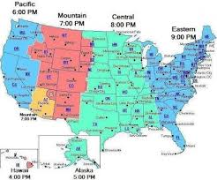 map showing time zones in usa us map showing time zones usa ppptimemap9pm et thempfa org