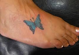 25 wonderful butterfly tattoos on foot creativefan
