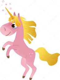 cartoon unicorn rearing up u2014 stock vector caramelina 13127320