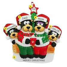 personalized family ornaments callisters christmas