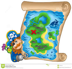 Treasure Map Clipart Treasure Map With Lurking Pirate Royalty Free Stock Images Image