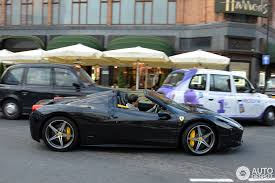 how much 458 spider 458 spider black with yellow calipers and interior