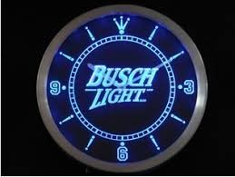 busch light neon sign amazon com busch light beer neon sign led wall clock by