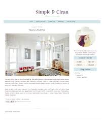 premade blogger template simple clean minimalist modern blog