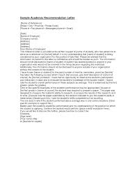 recommendation letter for academic jobs cover letter templates