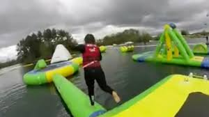 uk u0027s first total wipeout style assault course opens see if you