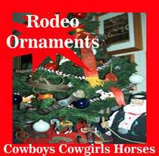 rodeo ornaments western cowboy
