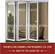 aluminum lowes glass interior soundproof folding doors accordion