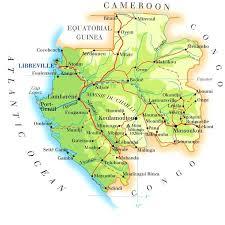 gabon in world map gabon map mappery