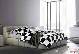 Black Duvet Cover King Size White Black Checkerboard Comforter Covers Bedding Set Duvet Cover