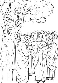Top Jesus And Zacchaeus Coloring Page Picture Unknown Zacchaeus Coloring Page