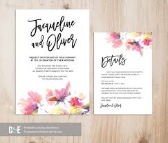 wedding invitations details card multicolour watercolor wedding invitation details card set pdf