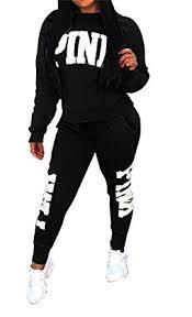 sweat suit jumpsuit amazon com dingang pink letter print sleeve 2 pieces