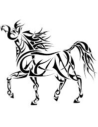 tribal horse 4 by coyotehills on deviantart