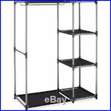 garment rack shelves closet rod organizer clothes storage wardrobe