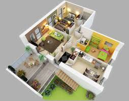 1 Bedroom Apartment Floor Plans by Modern One Bedroom Apartment Design Plans 3d Picture Apartments 3d