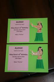 luau birthday party invites u2026 weezy u0027s wonderland