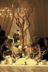 Manzanita Branches Centerpieces Sophisticated Wedding In Chicago With Branch U0026 Succulent Décor