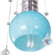 Blue Glass Pendant Light Blue Glass Pendant Lights 43 3 H With 4 Light Iron Material