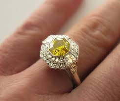 canary yellow engagement rings diamonds thrilling antique fancy yellow engagement rings