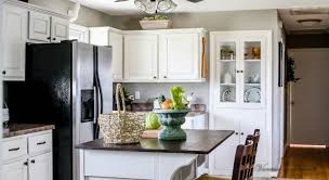 How I Painted My Kitchen Cabinets Without Removing The Doors A - Kitchen cabinet without doors