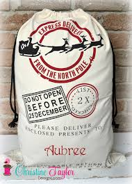 santa sacks personalized santa sacks santa sleigh design sack