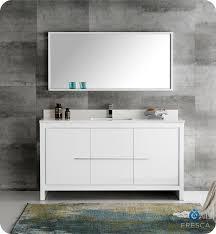 60 Bathroom Vanity Top Single Sink by Fresca Fvn8119wh S Fresca Allier 60