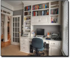 Dual Desk Home Office Built In Bookcase Ready To Assemble Wardrobe Shaker Shaker