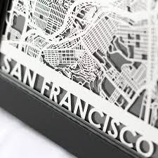 san francisco map framed district17 san francisco stainless steel framed map framed
