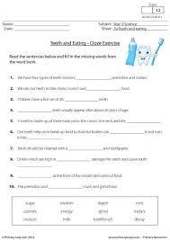 printable alphabet worksheets uk primaryleap co uk teeth and eating cloze exercise worksheet