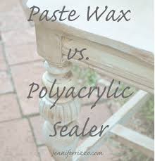 Best Way To Paint Furniture by How To Seal Painted Furniture Paste Wax Vs Polyacrylic Sealers