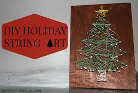 diy string art u2013 an easy last minute christmas project